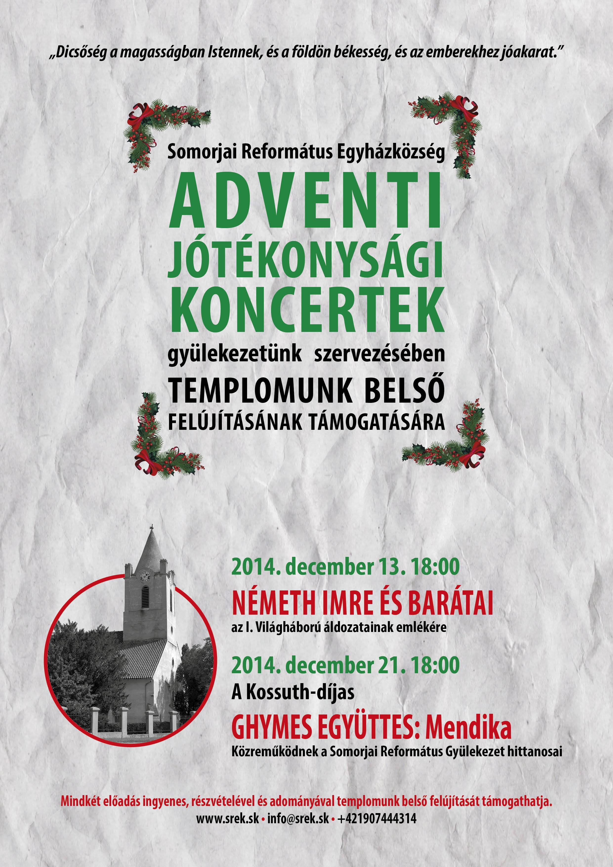 A somorjai református egyházközség decemberi programjai