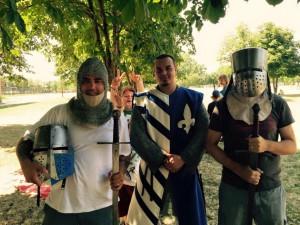 13. Kovács Koppány és Varju Péter is felpróbálták a harci felszerelést