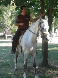 15. Kovács Koppány vezette a lovasbemutatót