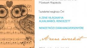 Koncert a zene világnapja alkalmából a művészeti alapiskolában
