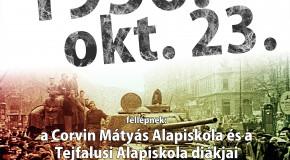 Megemlékezés az 1956-os forradalom 59. évfordulója alkalmából, a Fő téren