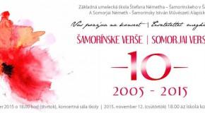 10 éves a Somorjai Versek projekt  – jubileumi koncert a művészeti alapiskolában