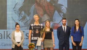 15 A gálán résztvevő kitüntetett sportolók - Seregi Karolina, Zalka Csaba (kajak-kenu), Bittera Kitti, Végh Dávid (vívás), Slama Angelika (kosár)