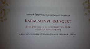 Karácsonyi koncert a művészeti alapiskolában