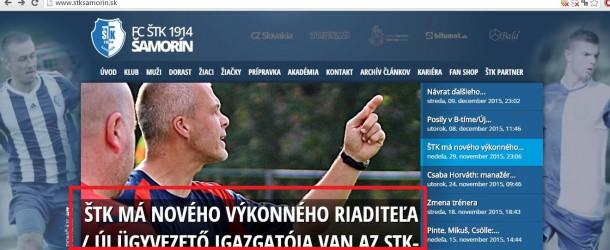 Megjelentek az első kétnyelvű hírek az STK Somorja honlapján