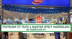 Ellepték amatricák aPepco somorjai boltjának kirakatát