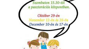 Gyermekfoglalkozások a pasztorációs központban