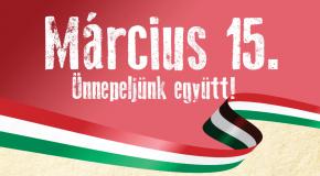 Március 15: megemlékezés, szentmise és színdarab a nemzeti ünnepünkön