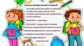 Nyílt nap a Tejfalusi Magyar Alapiskolában