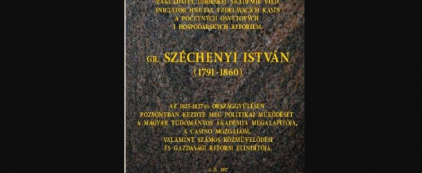 Áttörés: Széchenyi István emléktáblát kap Pozsonyban