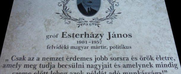Somorjára érkeznek az Esterházy Jánosért felajánlott emlékfutás résztvevői
